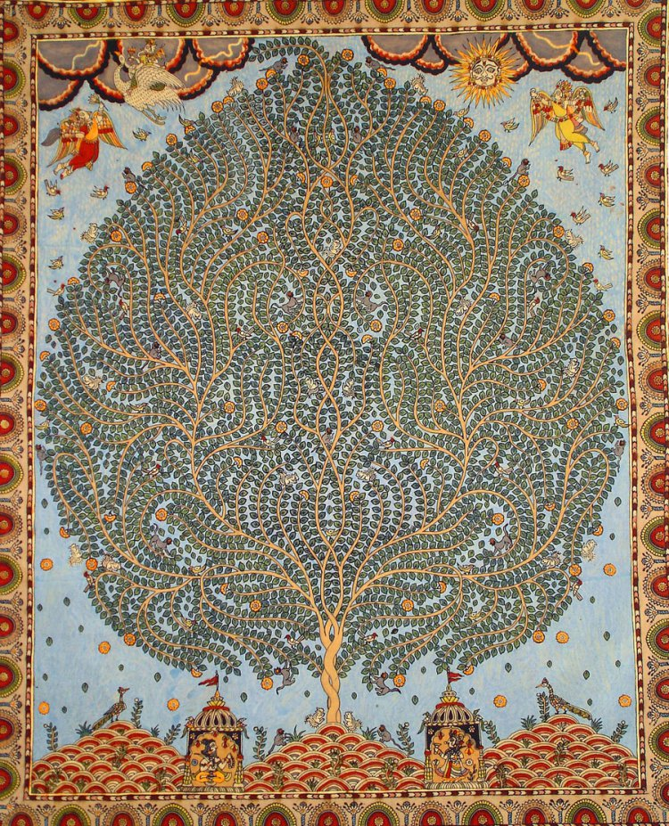 Tree of Life – Hand painted Kalamkari Motif from Gujarat, India Image source: rusticjewels.wordpress.com